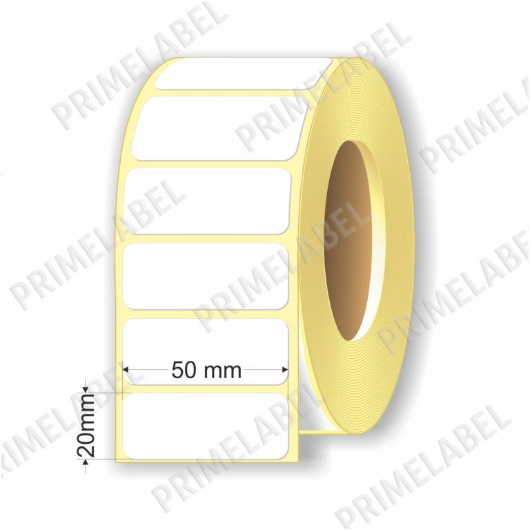 Термоэтикетка размером 50х20 мм ЭКО картинка-схема