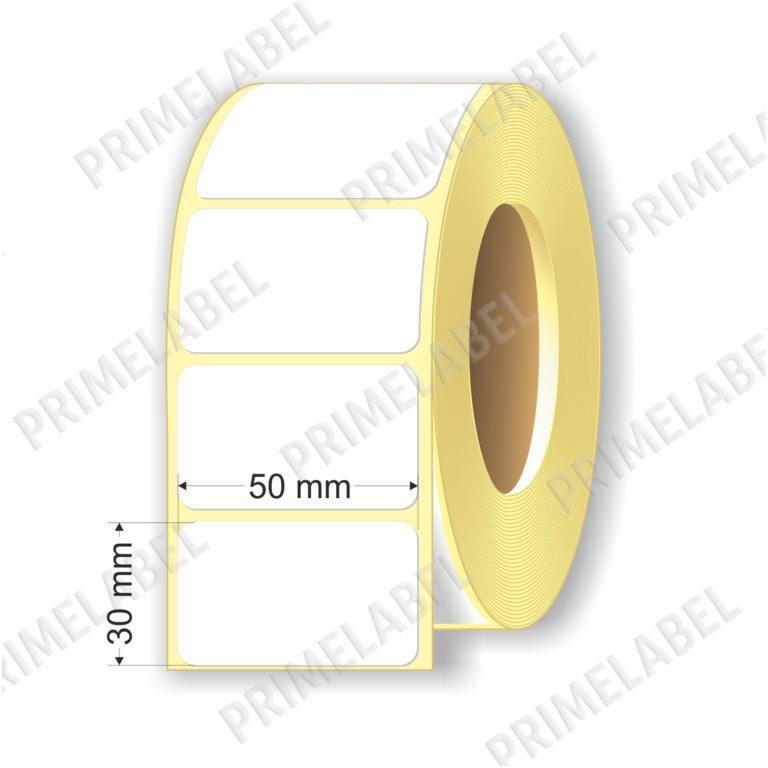 Термоэтикетка размером 50х30 мм ЭКО картинка-схема