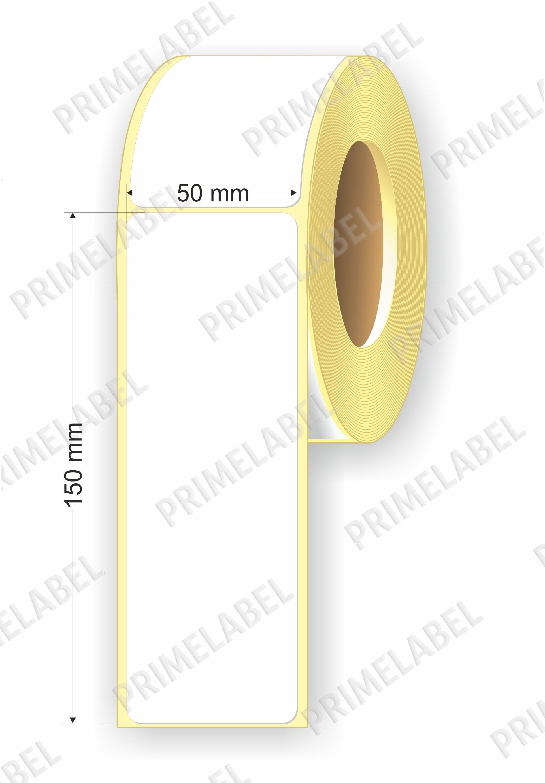 Термоэтикетка размером 50х150 мм ЭКО картинка-схема