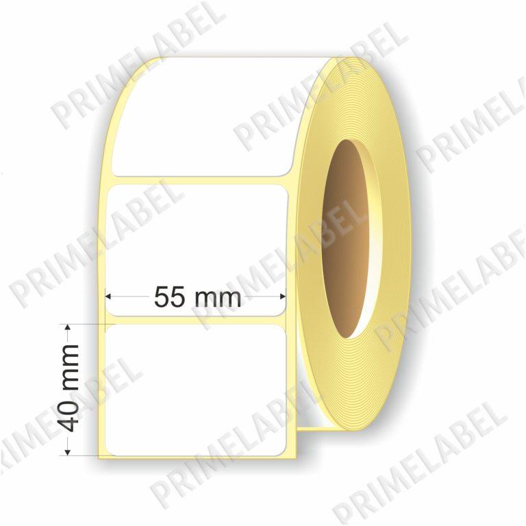 Термоэтикетка размером 55х40 мм ЭКО картинка-схема