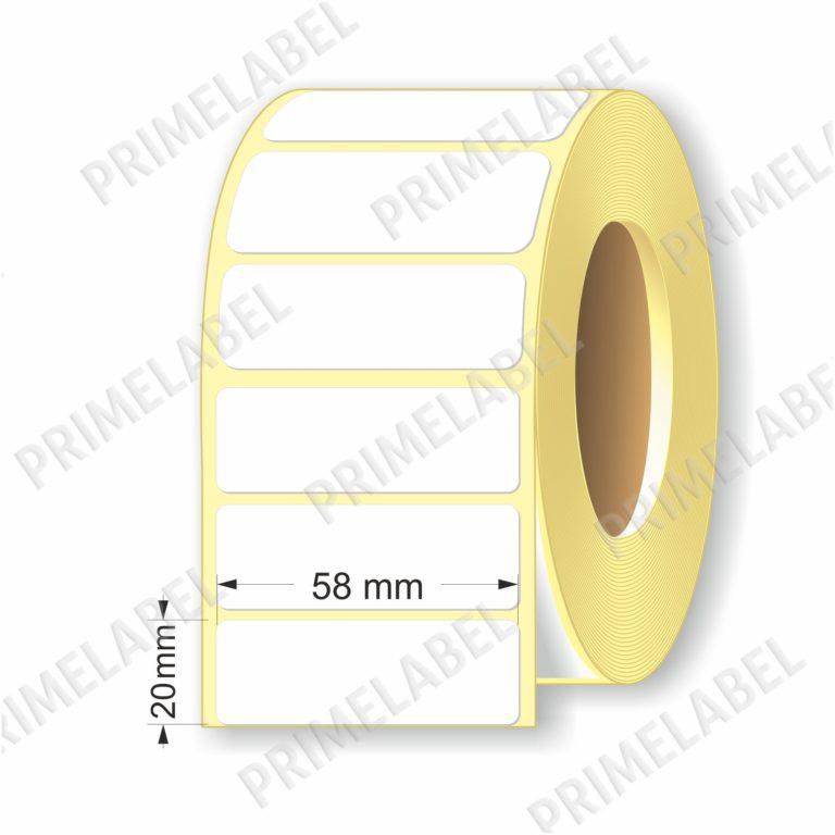 Термоэтикетка размером 58х20 мм ЭКО картинка-схема