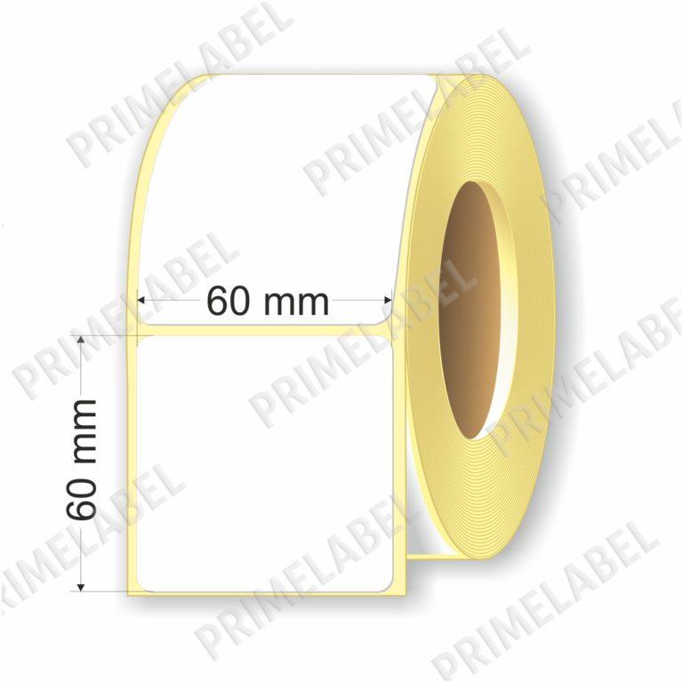 Термоэтикетка размером 60х60 мм ЭКО картинка-схема