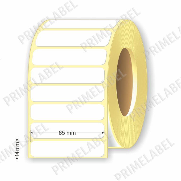Термоэтикетка размером 65х14 мм ЭКО картинка-схема