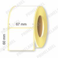Термоэтикетка размером 67х60 мм ЭКО картинка-схема