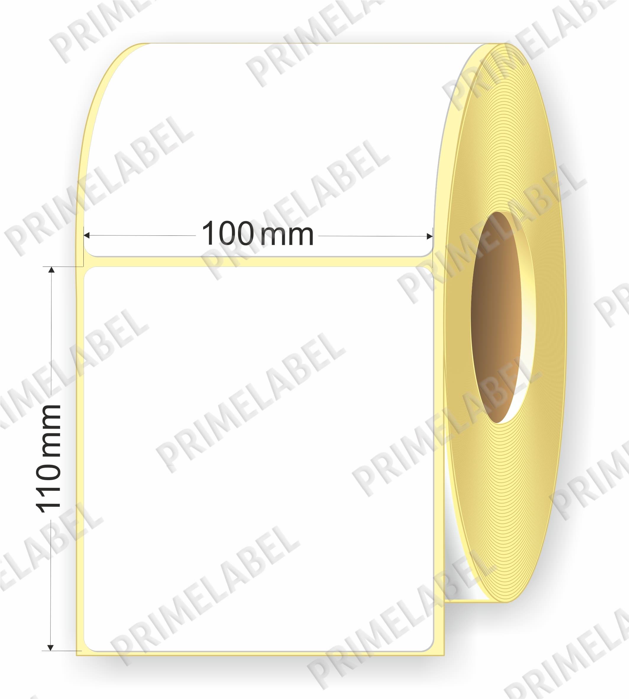 Термоэтикетка размером 100х110 картинка-схема