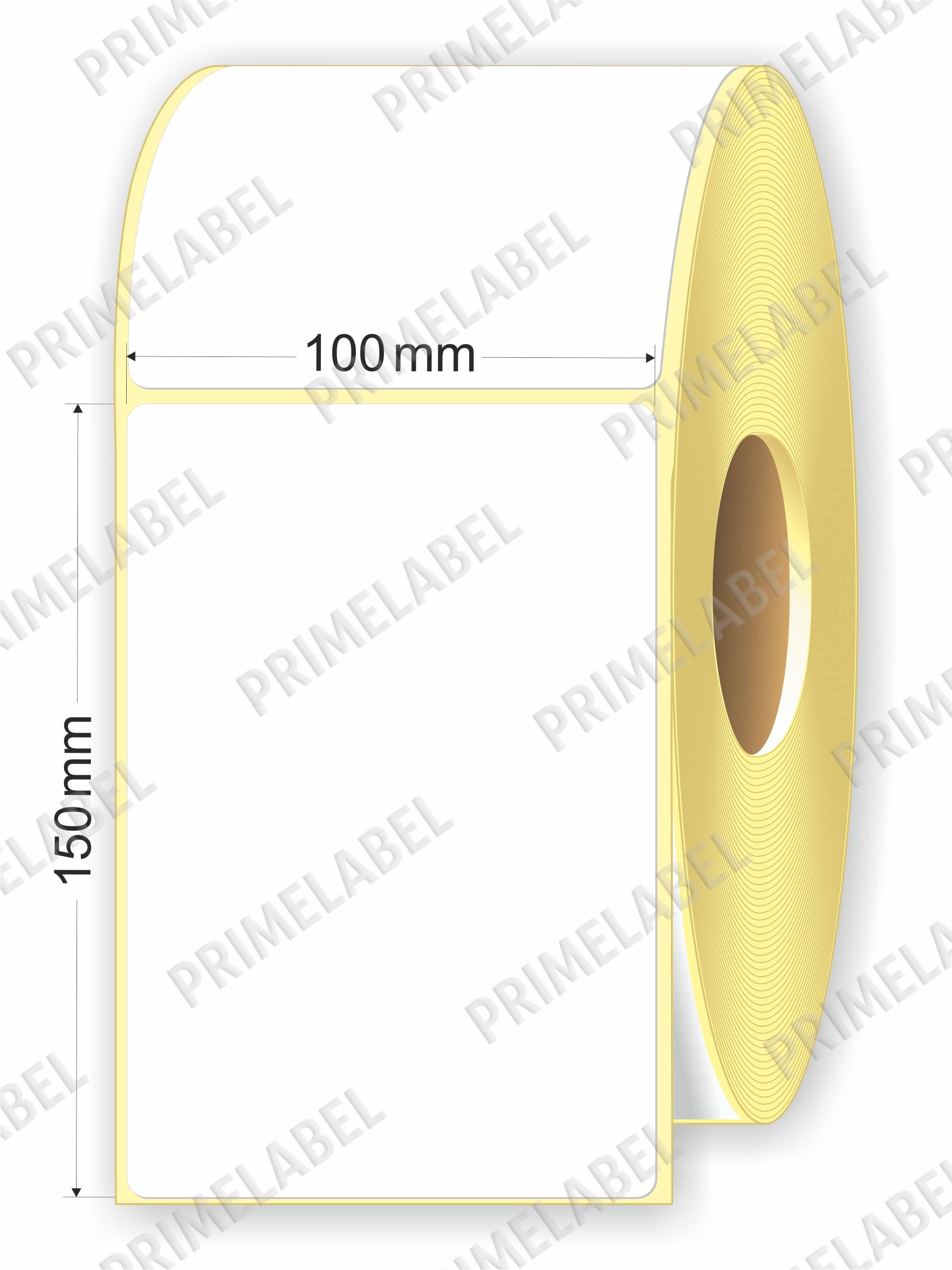 Термоэтикетка размером 100х150, 1000 этикеток в роле картинка-схема