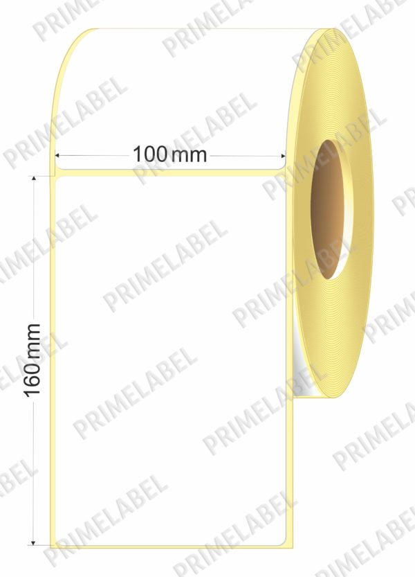 Термоэтикетка размером 100х160 картинка-схема