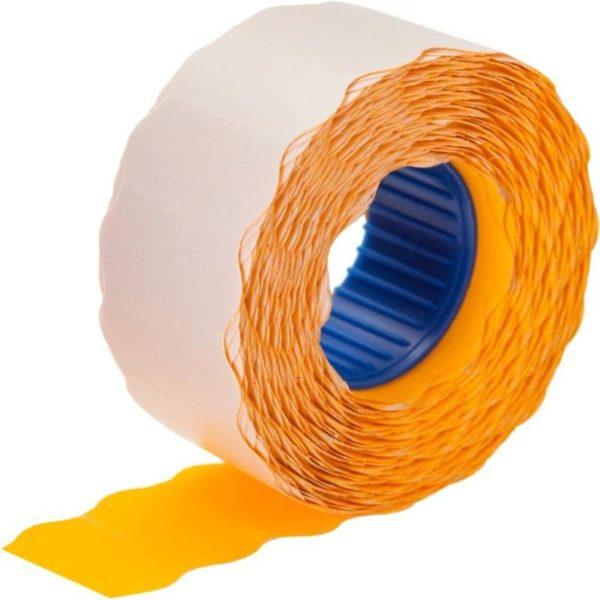 Этикет лента 26х12 оранжевая волна фото