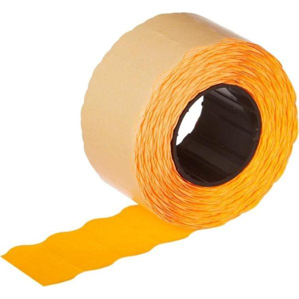 Этикет лента 26х12 оранжевая волна фото 2