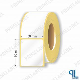 Термотрансферная этикетка полуглянец 50х60