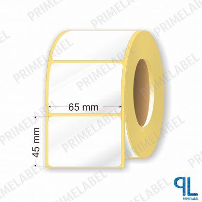 Термотрансферная этикетка полуглянец 65х45