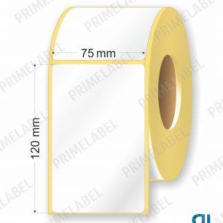 Термотрансферная этикетка полуглянец размер 75х120 мм